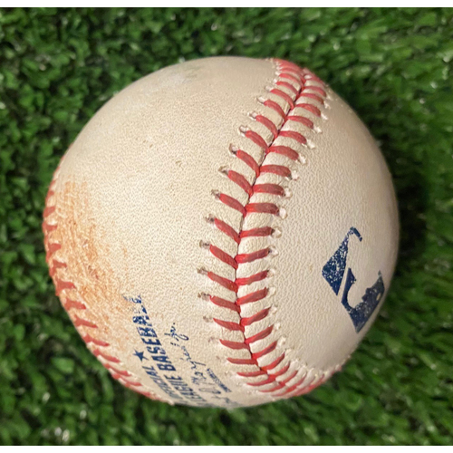 Photo of Ian Anderson Strikeout Ball of Trea Turner - 10/17/21 NLCS Game 2 - Also pitched to Will Smith