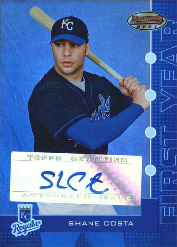 Photo of 2005 Bowman's Best Blue #143 Shane Costa FY AU