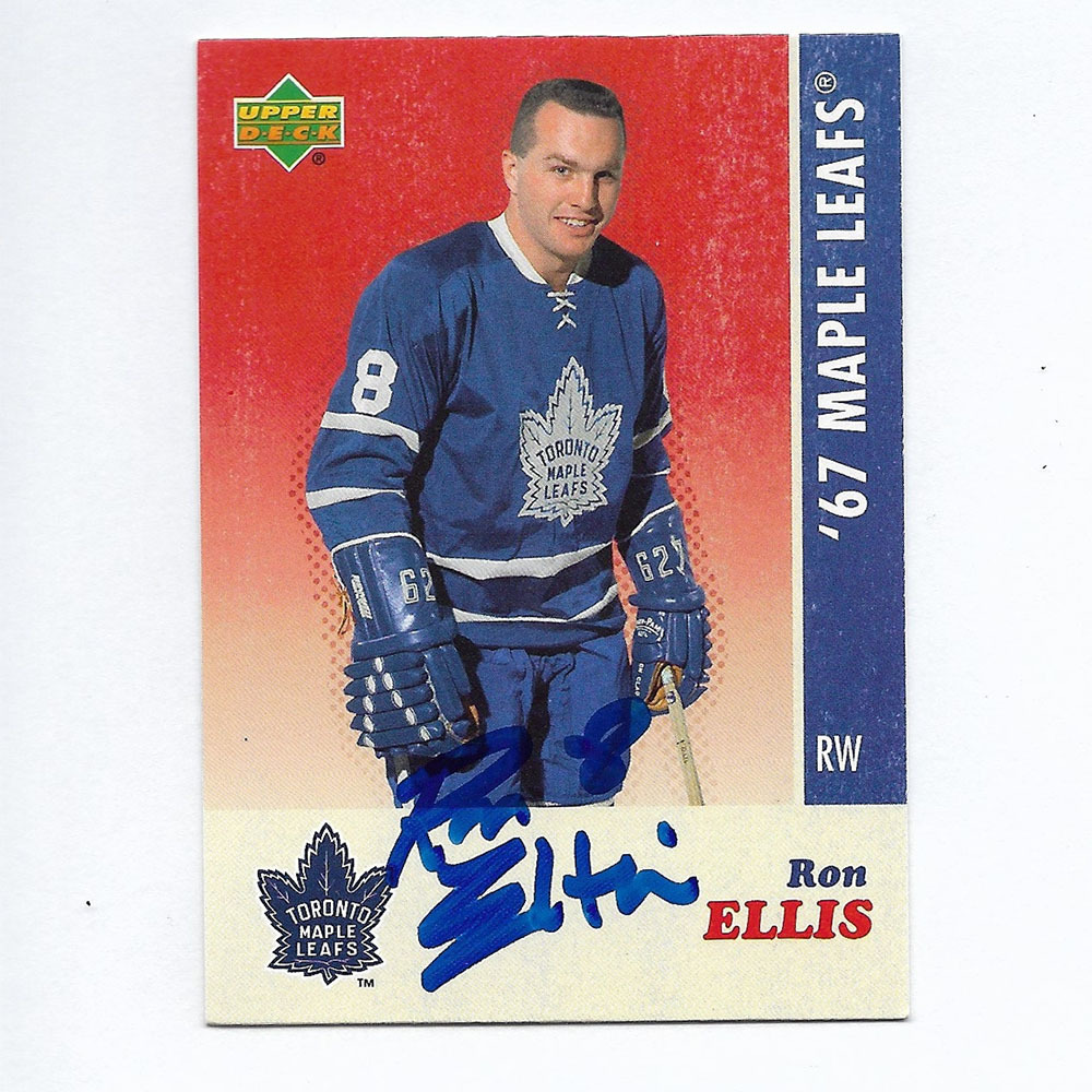 Ron Ellis Autographed Commemorative 1967 Toronto Maple Leafs Upper Deck Hockey Card
