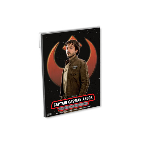 2016 Topps Star Wars Rogue One Series One 5x7 Heroes of the Rebel Alliance Set (14 Cards) - # to 49