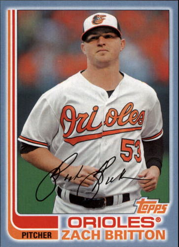 Photo of 2017 Topps Archives Blue #166 Zach Britton /75