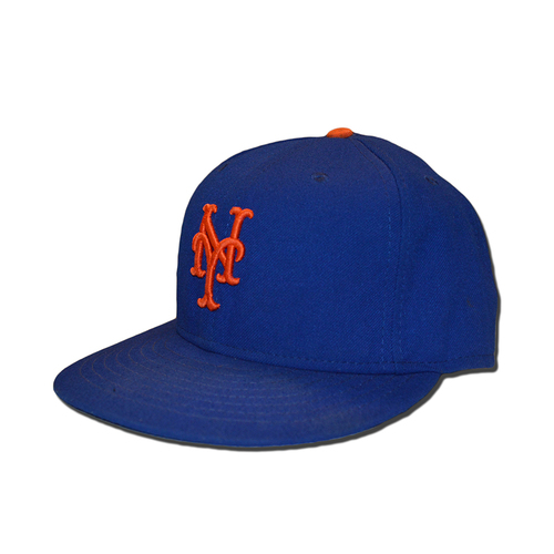 Photo of Jeurys Familia #27 - Game Used Blue Hat - Final Home Game of 2017 Season - Mets vs. Braves - 9/27/17