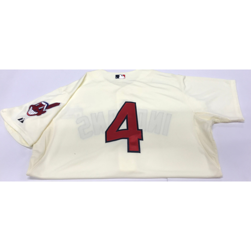 Photo of Mike Aviles Team-Issued 2014 Alternate Home Jersey