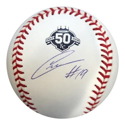 Photo of Autographed 50th Season Baseball: Cheslor Cuthbert