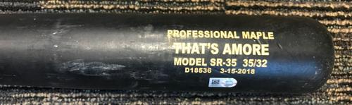 """Photo of """"That's Amore"""" Model Team-Issued Broken Bat"""