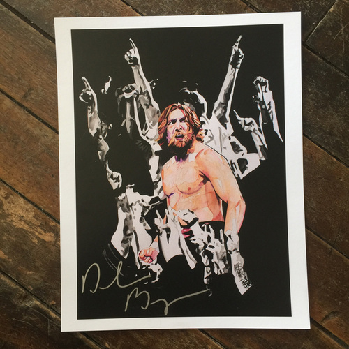 Photo of Daniel Bryan SIGNED 11 x 14 Rob Schamberger Print