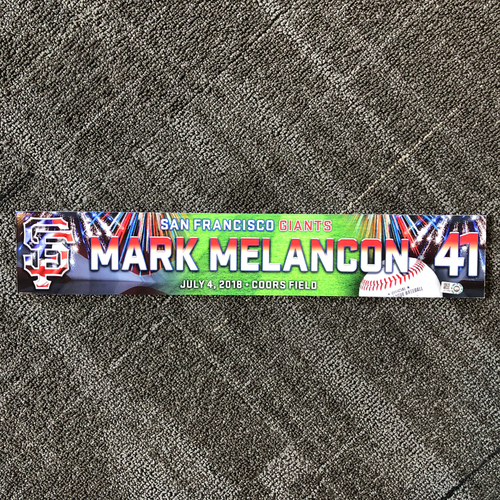 Photo of Mark Melancon 3x ALL-STAR - 2018 4th of July Locker Tag