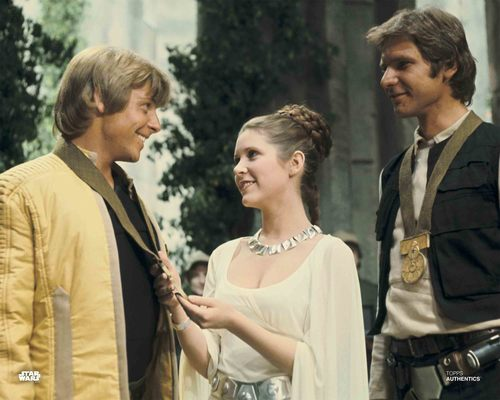Han Solo, Luke Skywalker and Princess Leia Organa