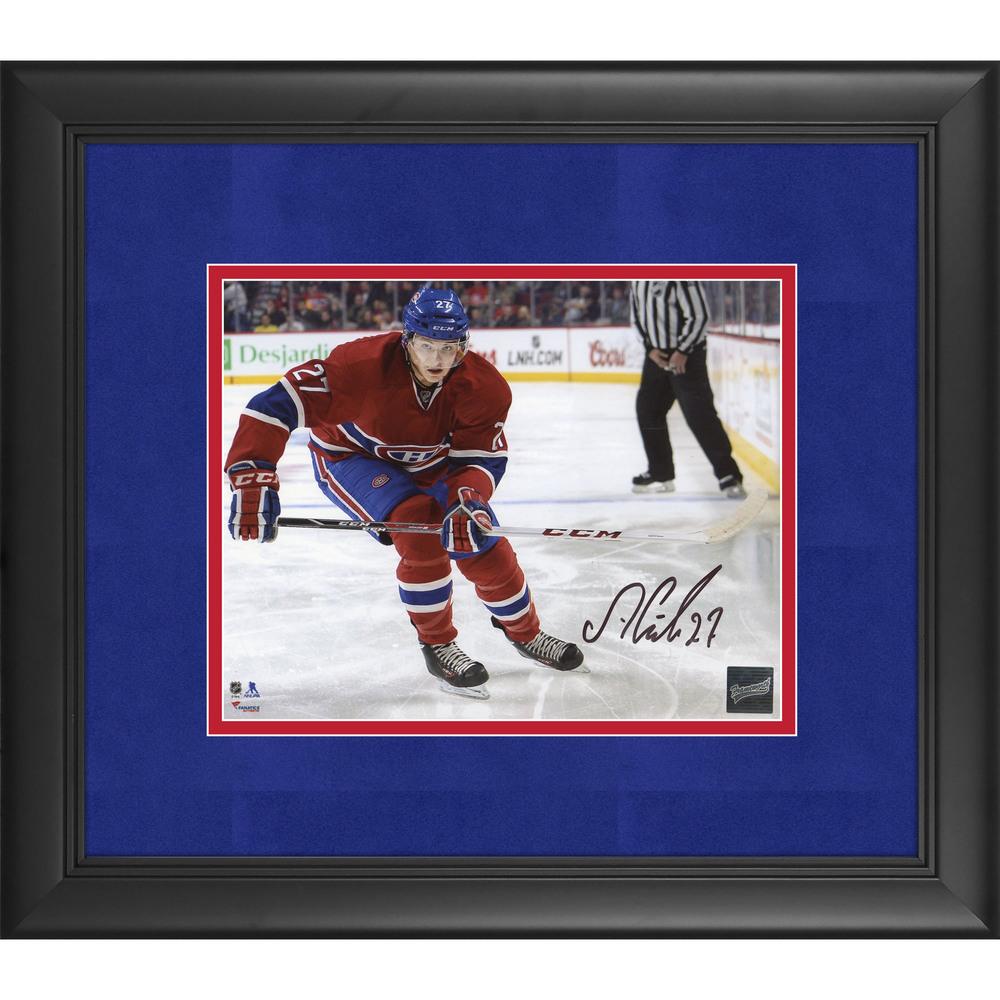Alex Galchenyuk Montreal Canadiens Framed Autographed 8'' x 10'' Photo - Frameworth