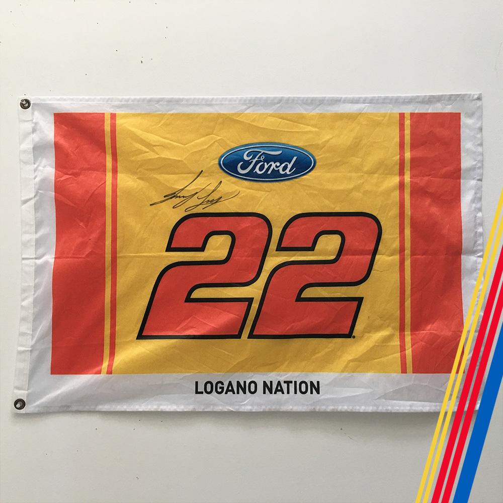 NASCAR's Joey Logano Autographed #22 flag!