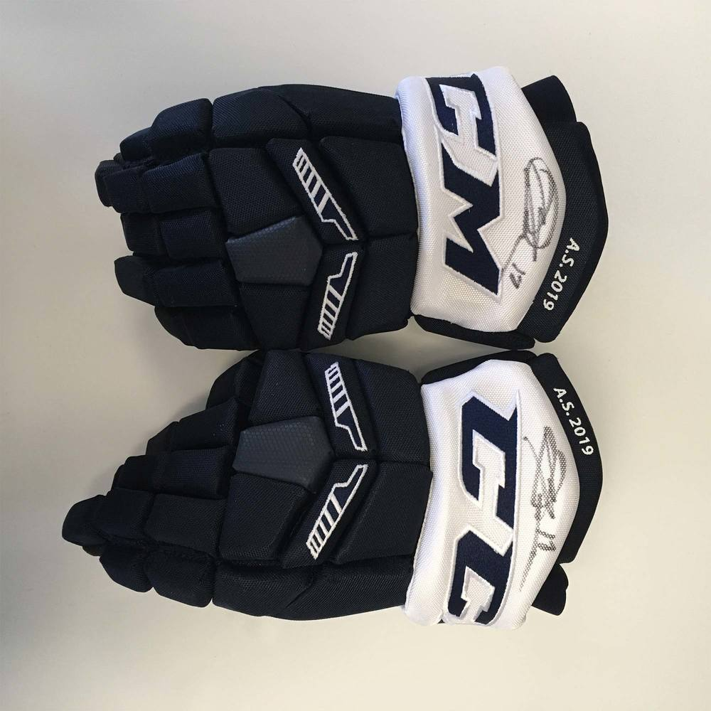 2019 Lexus AHL All-Star Classic Gloves Worn and Signed by #17 Michael Dal Colle