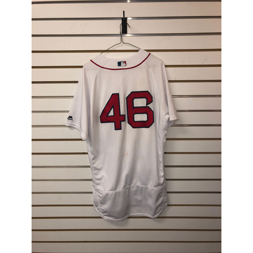 Photo of Craig Kimbrel Game-Used April 12, 2018 Home Jersey