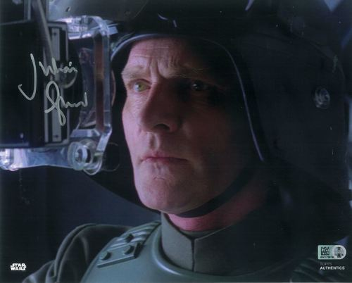 Julian Glover As General Veers 8X10 Autographed in Silver Ink Photo