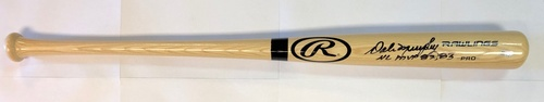 "Photo of Dale Murphy Autographed ""NL MVP 82,83"" Rawlings Bat"