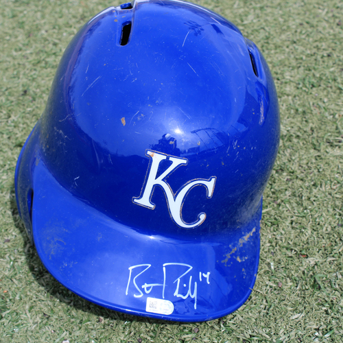 Photo of Autographed Helmet: Brett Phillips (Size 7 3/8)