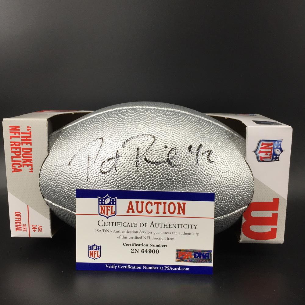 NFL - Ravens Patrick Ricard signed Silver 100 Seasons Commemorative Football