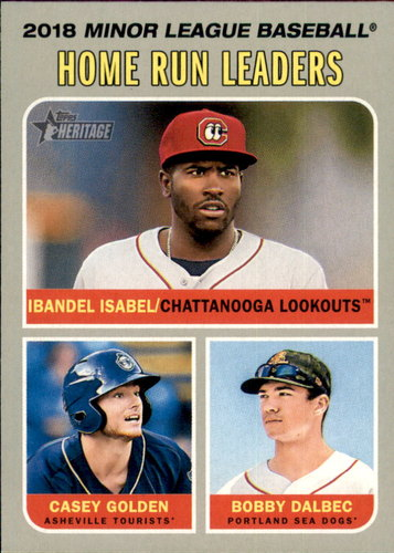 Photo of 2019 Topps Heritage Minors #193 Bobby Dalbec/Ibandel Isabel/Casey Golden LL