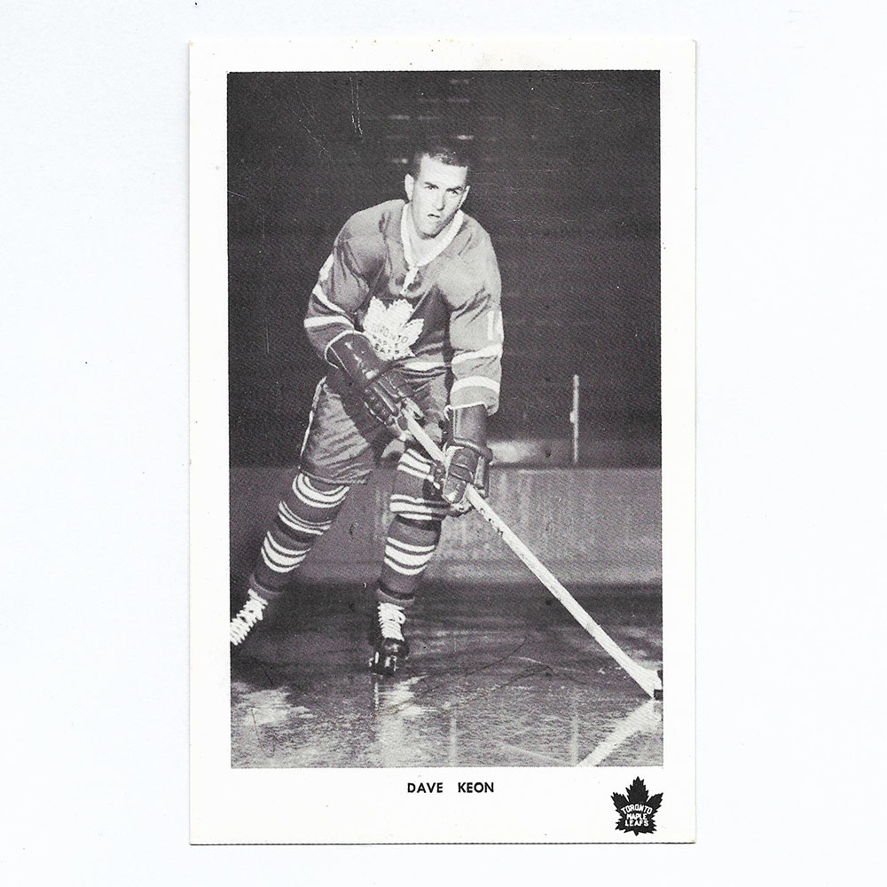 Dave Keon Autographed Toronto Maple Leafs 3X6 Photo