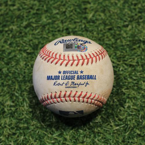 Photo of Game-Used Baseball: Leury Garcia 379th Career Hit (CWS @ KC 8/1/20)