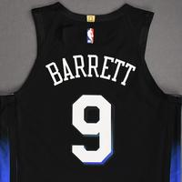 RJ Barrett - New York Knicks - Game-Worn City Edition Jersey - Recorded a Double-Double - 2020-21 NBA Season