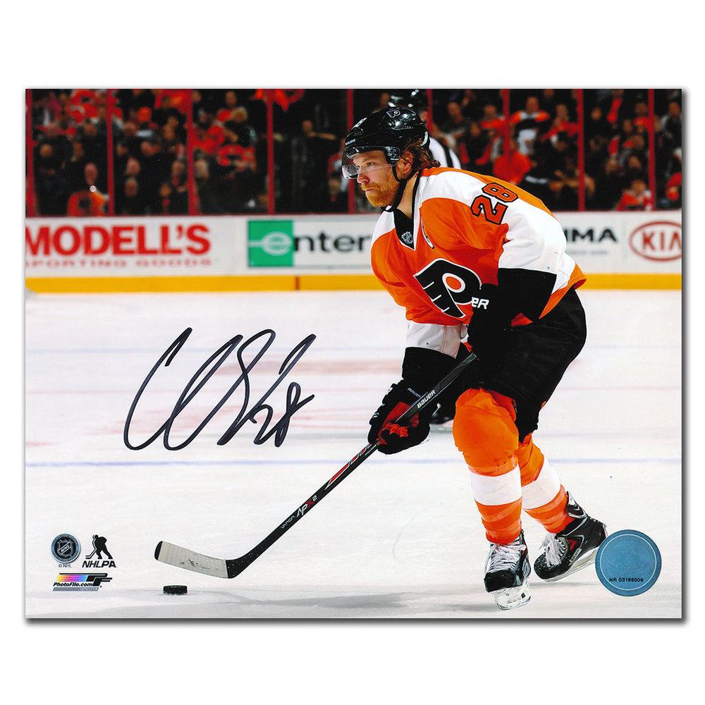 Claude Giroux Philadelphia Flyers ACTION Autographed 8x10