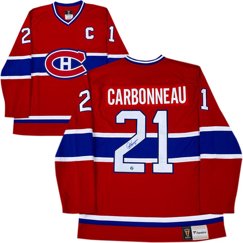 Guy Carbonneau Autographed Montreal Canadiens Fanatics Heritage Jersey