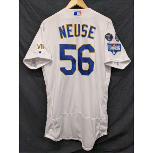 Photo of Sheldon Neuse Team-Issued Gold Trim Re-Opening Day Jersey - 6/15/21