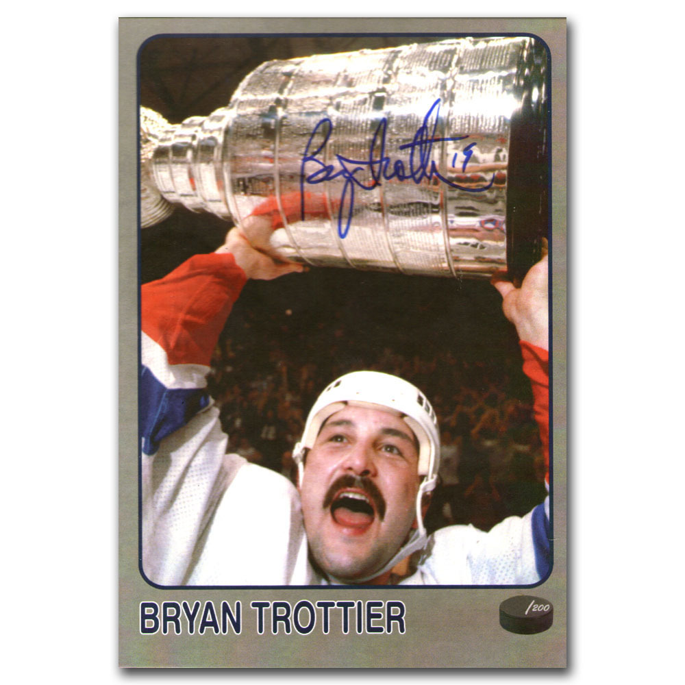 Bryan Trottier Autographed Limited-Edition Frozen Pond Promotional Card (New York Islanders)
