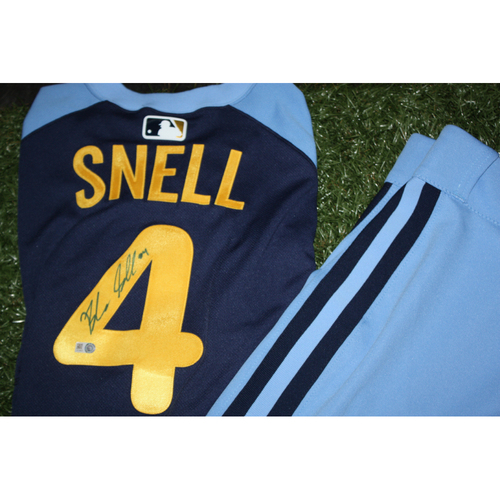 newest collection 3b8e8 0162f MLB Auctions | Blake Snell Game Worn and Autographed Jersey ...