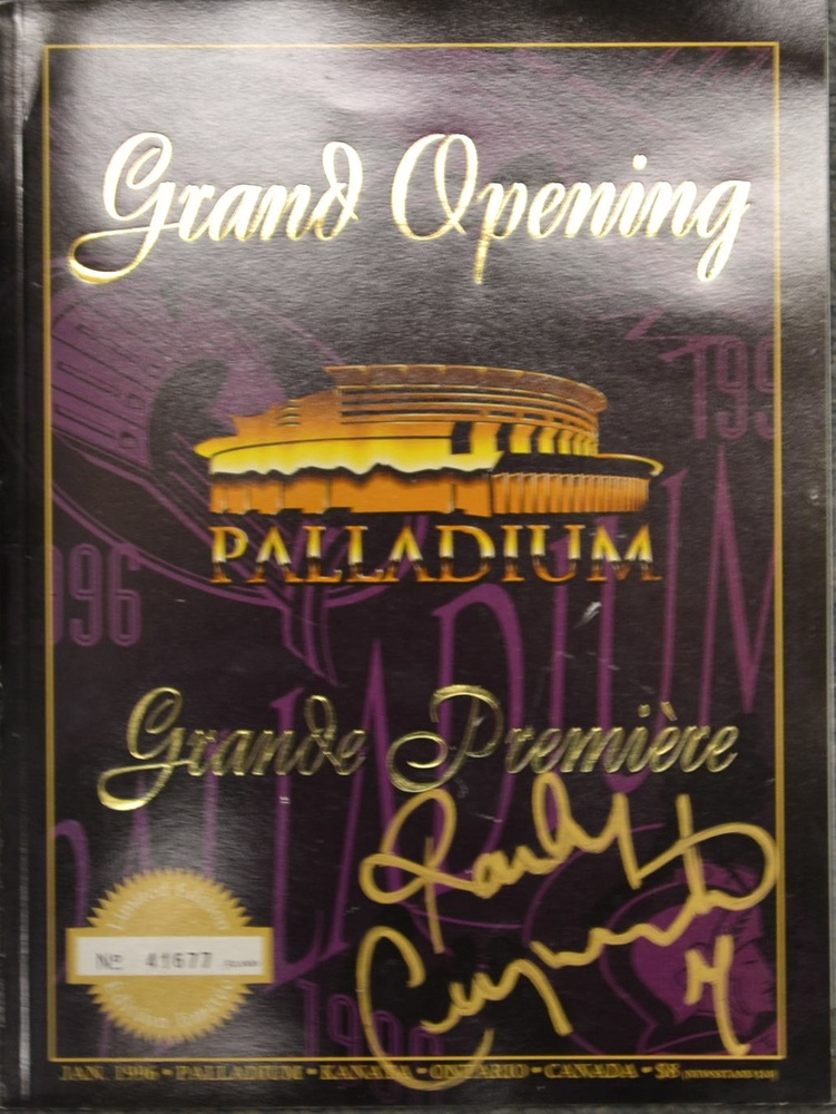 Randy Cunneyworth Signed 11x8 Program - Ottawa Senators Palladium Grand Opening