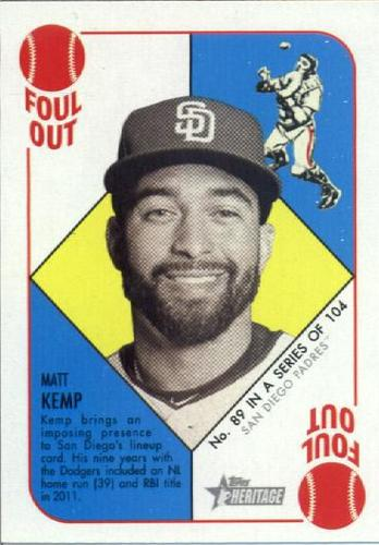 Photo of 2015 Topps Heritage '51 Collection #89 Matt Kemp