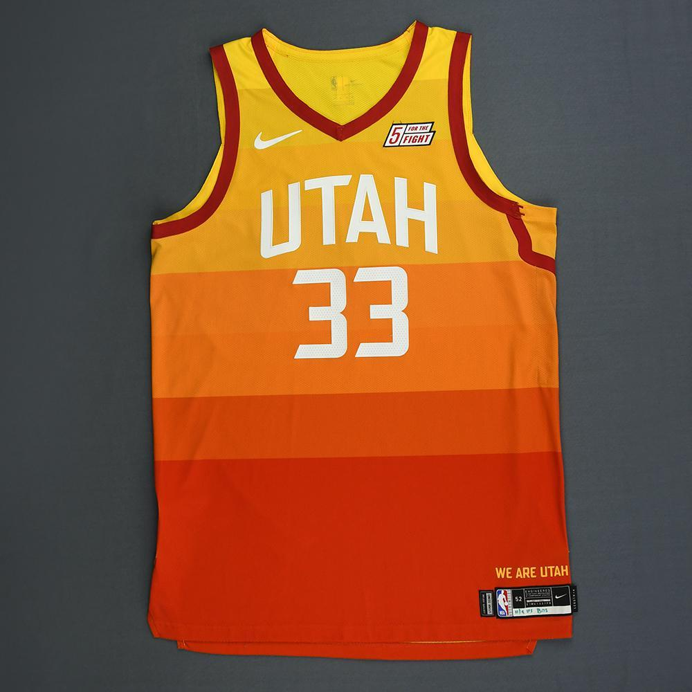 sports shoes b14c4 84f46 Ekpe Udoh - Utah Jazz - Game-Worn City Edition Jersey - 2018 ...