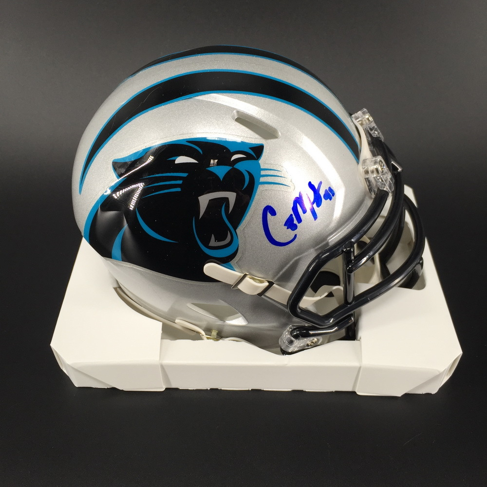 Panthers - Captain Munnerlyn Signed Mini Helmet