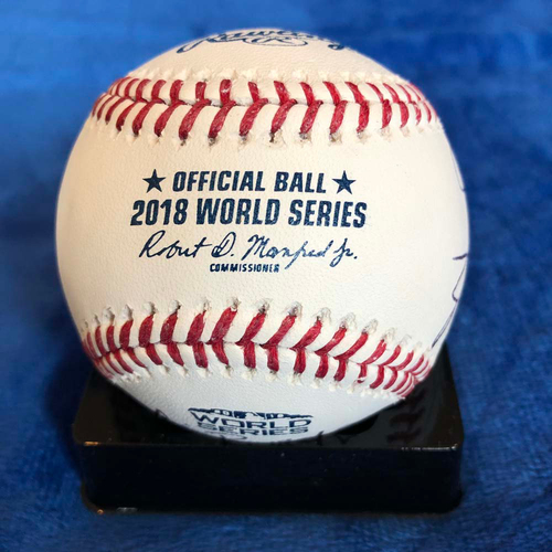 Photo of UMPS CARE AUCTION: 2018 World Series Baseball Crew Signed
