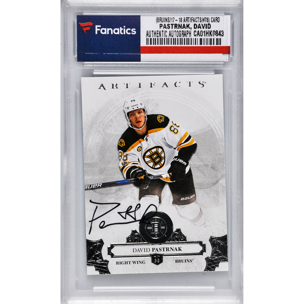 David Pastrnak Boston Bruins Autographed 2017-18 Upper Deck Artifacts #78 Card