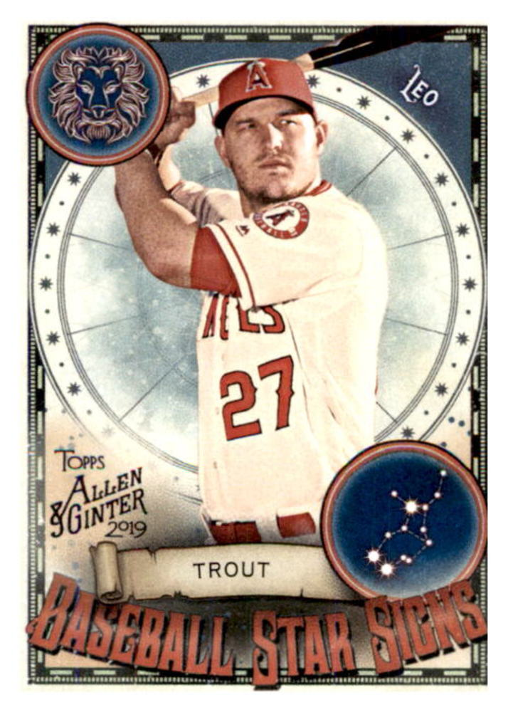 2019 Topps Allen and Ginter Baseball Star Signs #BSS15 Mike Trout