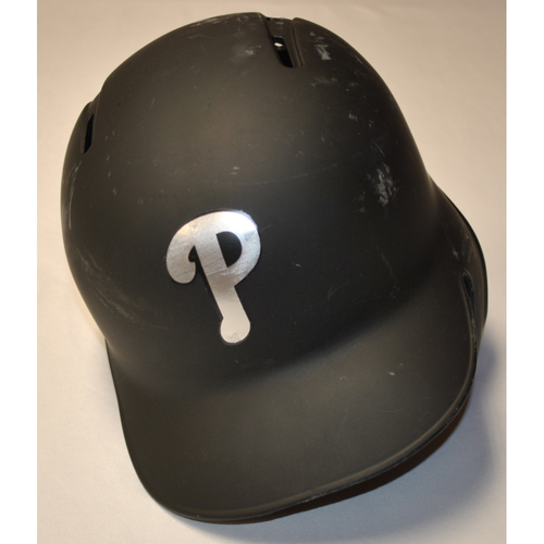 "Photo of Sean ""CHI CHI"" Rodriguez Philadelphia Phillies Game-Used 2019 Players' Weekend Helmet"