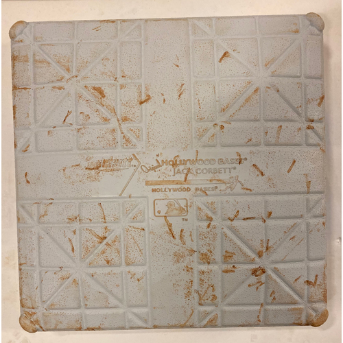 Photo of 2019 NLDS Game Used Base - Second Base Used During 8th and 9th Inning - 10/9/19 - Cardinals Clinch