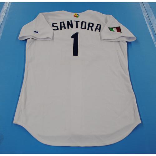 Photo of 2006 Inaugural World Baseball Classic: Jack Santora Game-worn Team Italy Home Jersey