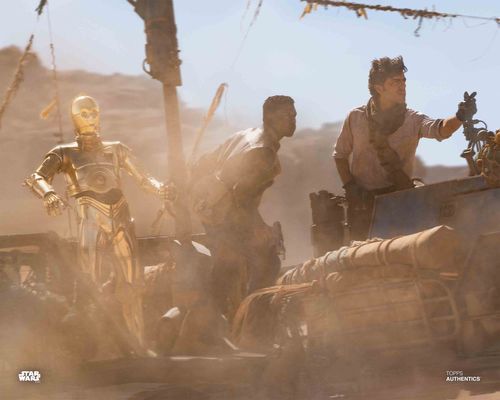 Poe Dameron, Finn and C-3PO