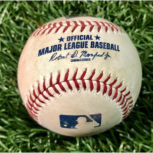Game Used Baseball: Shohei Ohtani Cycle Game - Yandy Diaz RBI single to Kole Calhoun - June 13, 2019 v LAA