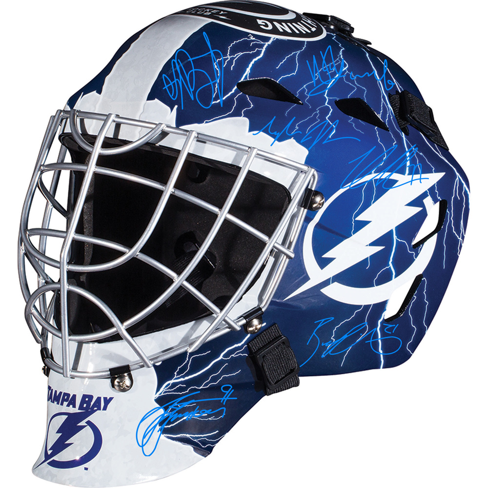 Tampa Bay Lightning 2020 Stanley Cup Champions Autographed Replica Goalie Mask with Multiple Signatures - LE#1 of 20