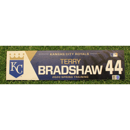 Photo of Team-Issued 2020 Spring Training Locker Tag: Terry Bradshaw #44