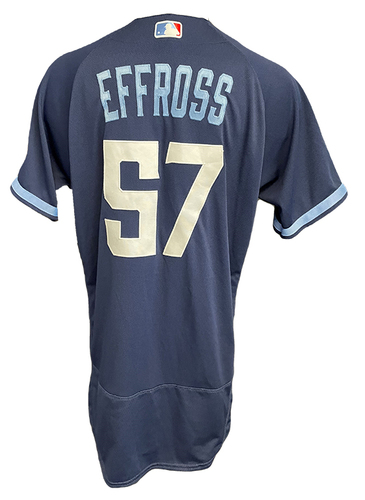 Photo of Scott Effross Game-Used Jersey - City Connect - Cardinals vs. Cubs Game 1 of DH - 9/24/21 - Size 46