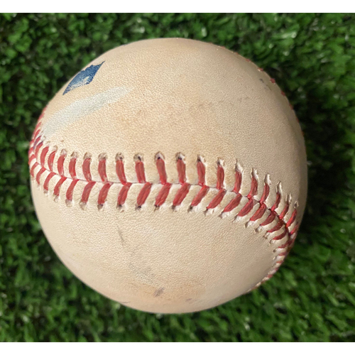 Photo of Game Used Baseball - Pitcher: Joe Kelly, Batter: Joc Pederson (Ground out) and Adam Duvall (Ball, Foul) - 10/17/21 NLCS Game 2