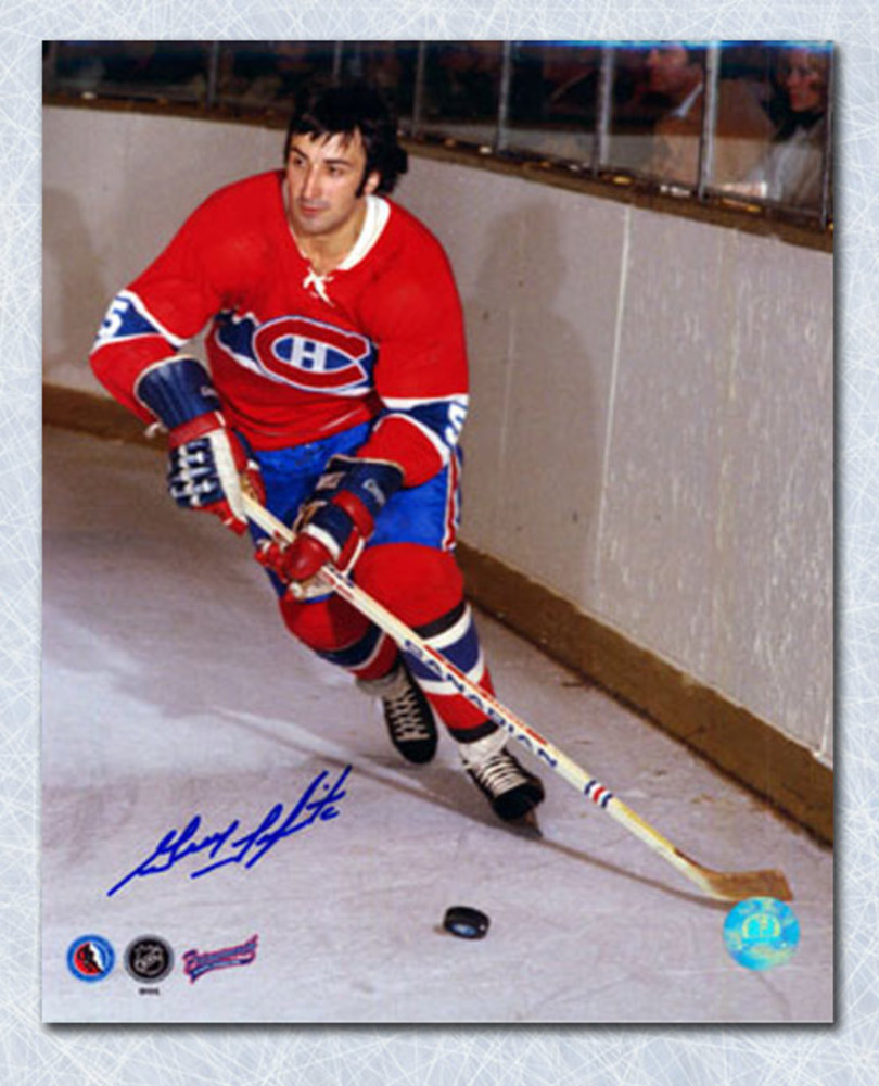 Guy Lapointe Montreal Canadiens Autographed Habs Defense 8x10 Photo