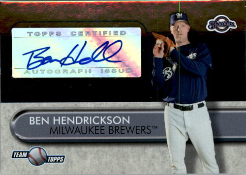 Photo of 2005 Topps Team Topps Autographs #BH Ben Hendrickson BD