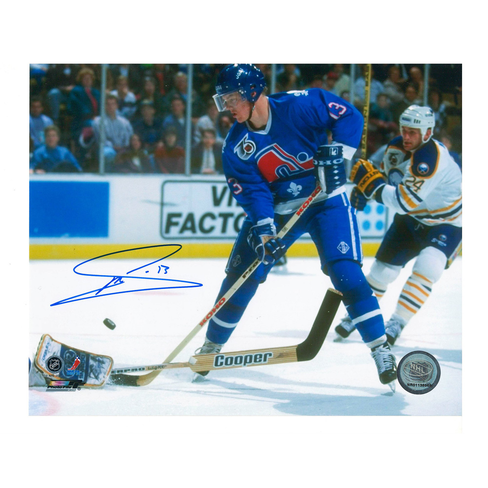 MATS SUNDIN Signed Quebec Nordiques 8 X 10 Photo - 70203