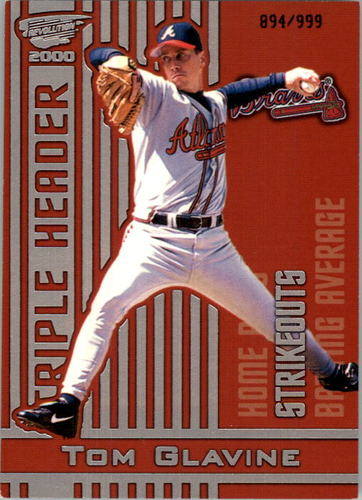 Photo of 2000 Revolution Triple Header Silver #22 Tom Glavine