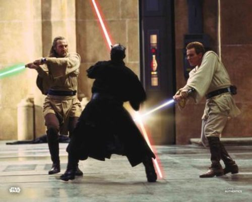 Qui-Gon Jinn, Darth Maul and Obi-Wan Kenobi